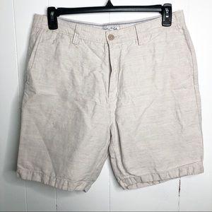 Nautica Linen Cotton Blend Bermuda Shorts